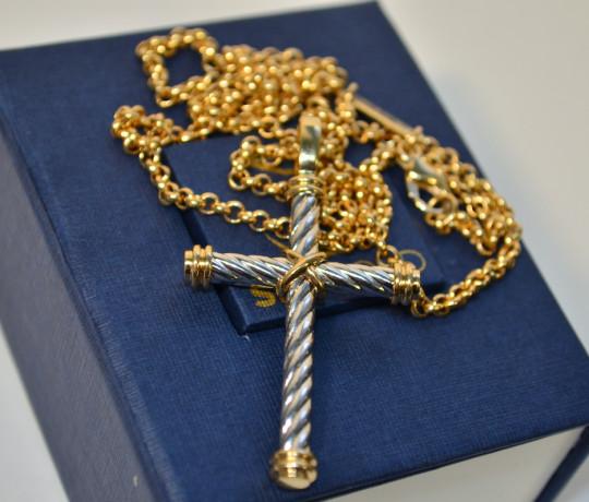 Мужской золотой авторский крест
