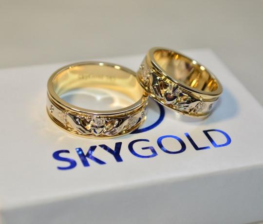 Обручальные кладдахские кольца