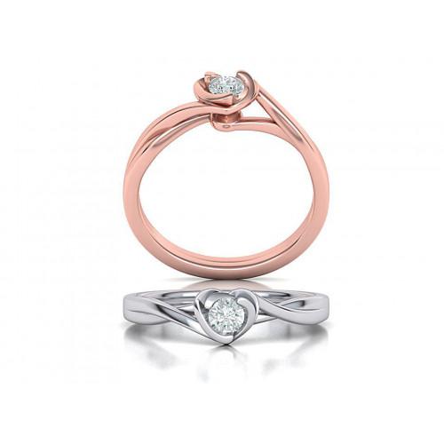 Женское классическое помолвочное кольцо с бриллиантом 2025571
