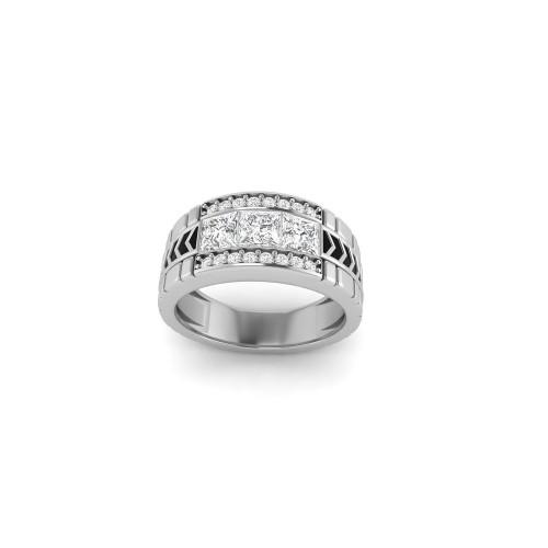 Авторское золотое кольцо с квадратными бриллиантами 2687881