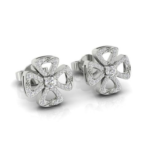 Женские серьги гвоздики с бриллиантами 2288551