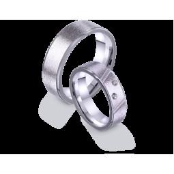 Обручальные кольца американка из белого золота с камнями 4221189