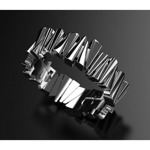 Необычное золотое кольцо с черным покрытием 2567198