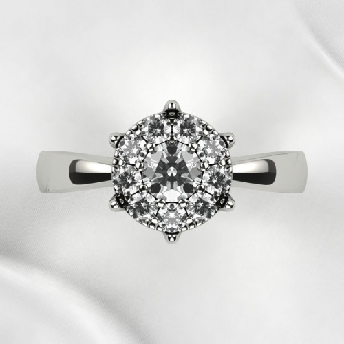 Золотое дизайнерское кольцо с бриллиантами 2677188
