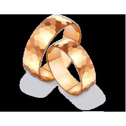 Широкие обручальные кольца из красного золота 411290