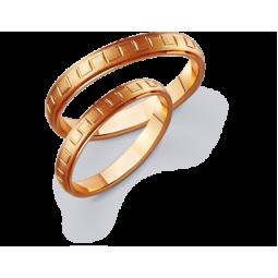 Золотые парные обручальные кольца 411154D