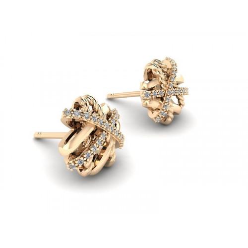 Серьги гвоздики с бриллиантами 2321734
