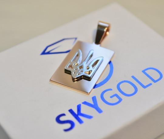 Золотой подвес Герб Украины