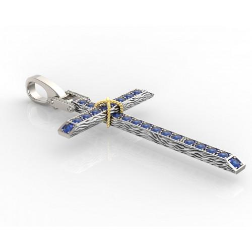 Авторский золотой крест с бриллиантами 2710988