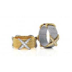 Дизайнерские свадебные кольца с мелкими камнями