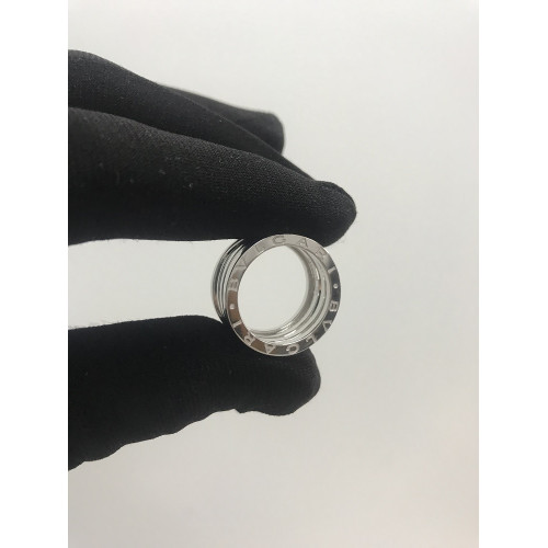Золотое кольцо унисекс в стиле Bvlgari Zero White Gold Ring 046