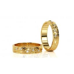 Свадебные кольца с небольшими бриллиантами 1930308