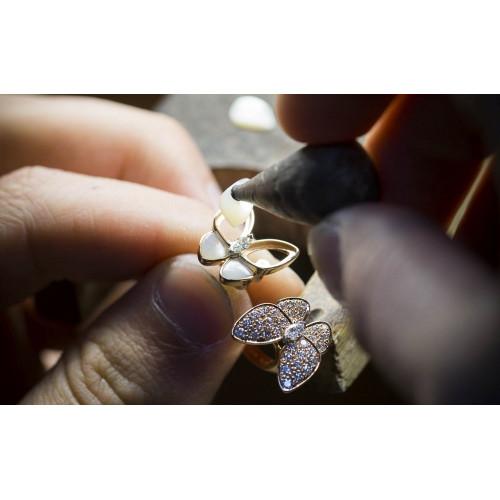Женское золотое кольцо Бабочка реплика Van Cleef & Arpels