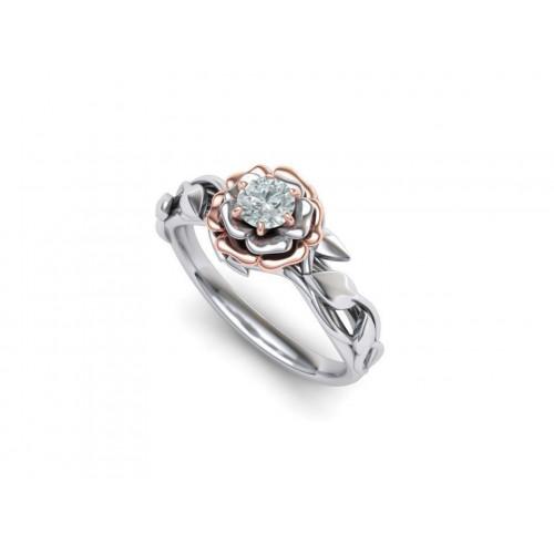 Дизайнерское помолвочное кольцо с бриллиантом 2004411