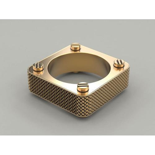 Золотое кольцо необычной формы 980313