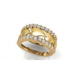 Женское золотое кольцо с дорожкой бриллиантов 2359088