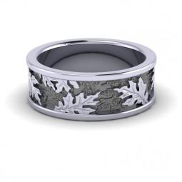 Обручальное кольцо с изображением листьев