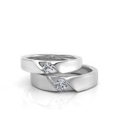 Свадебные кольца с крупными бриллиантами 102762