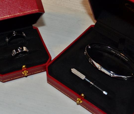 Браслет и кольца реплика Cartier Love