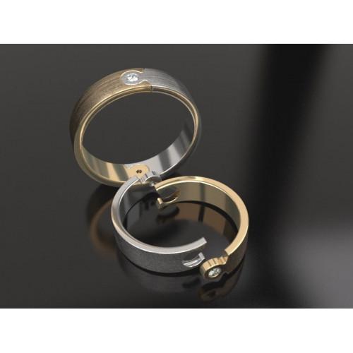 Необычные свадебные кольца с бриллиантами 957537