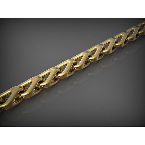 Дизайнерская золотая мужская цепь 2379414