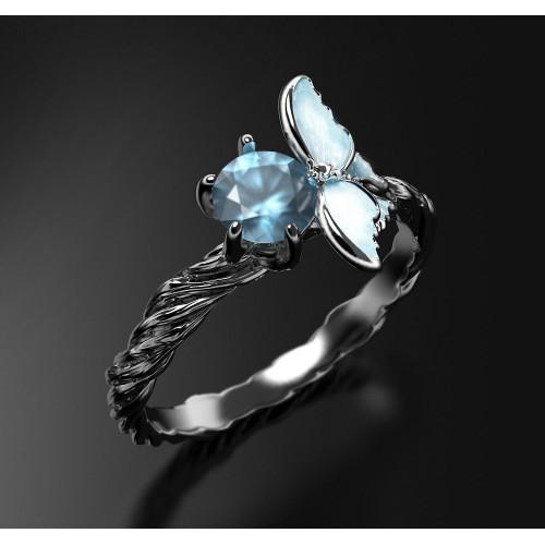Женское золотое кольцо с топазом 2449234