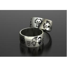 Эксклюзивные золотые свадебные кольца Семья