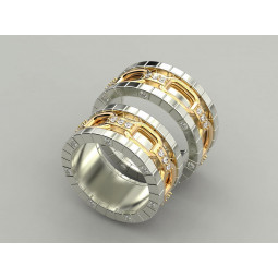 Массивные свадебные кольца с бриллиантами 977357