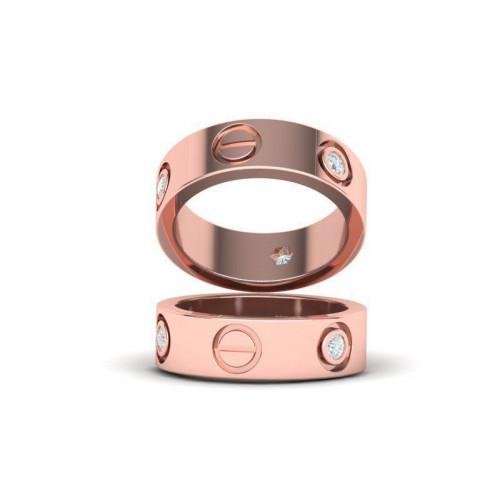 Обручальные кольца с камнями реплика Cartier