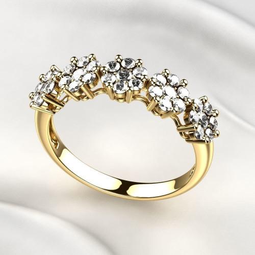 Женское кольцо с небольшими бриллиантами 2319911