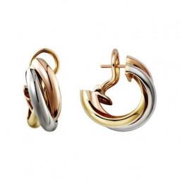 Женские золотые серьги в стиле Cartier 646573