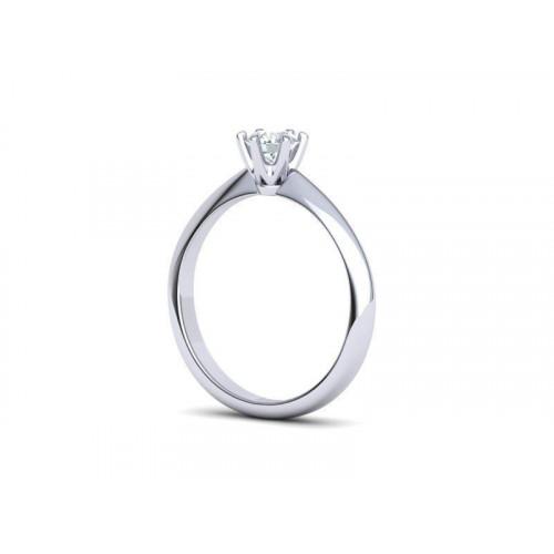 Золотое помолвочное кольцо с бриллиантом 2065114