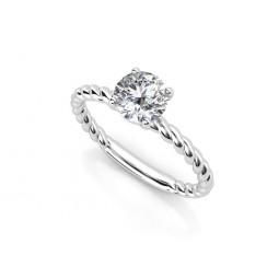Оригинальное золотое помолвочное кольцо с бриллиантом 2197231