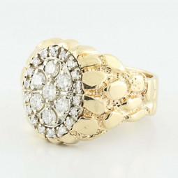 Золотой мужской перстень с бриллиантами 2639164
