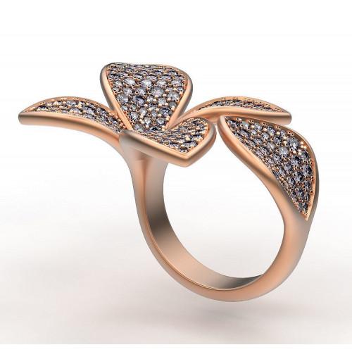 Эксклюзивное женское кольцо Five Leafs реплика Pasquale Bruni