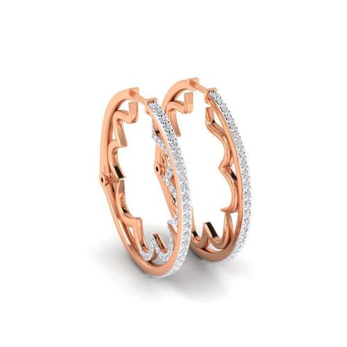 Золотые серьги кольца с бриллиантами 2639243