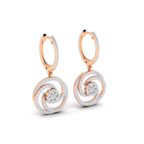 Золотые дизайнерские серьги с бриллиантами 2638875