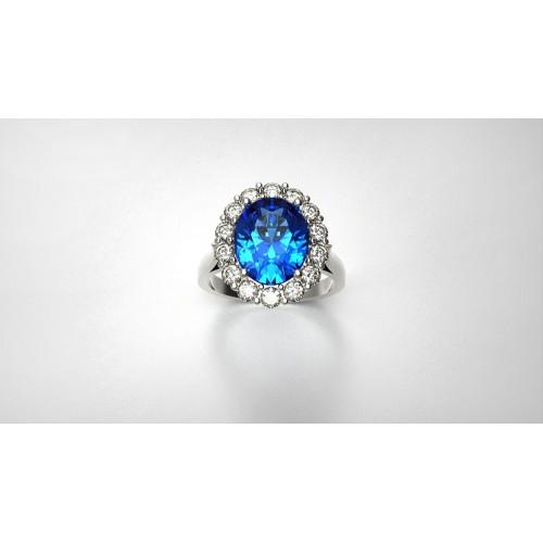 Женское золотое авторское кольцо с бриллиантами 254815