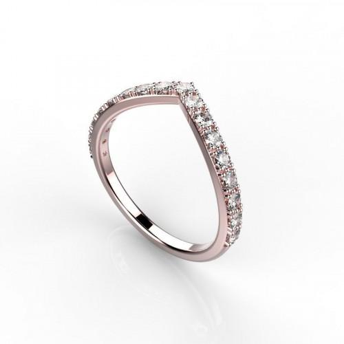 Небольшое золотое кольцо с дорожкой бриллиантов 1998804