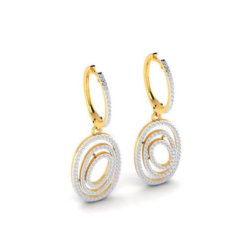 Женские золотые серьги с россыпью бриллиантов 2639237