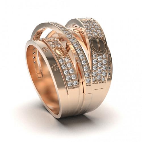 Эксклюзивное золотое кольцо в стиле Cartier 125412