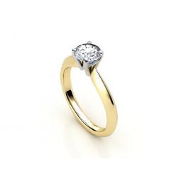 Золотое помолвочное кольцо с крупным камнем 2223688