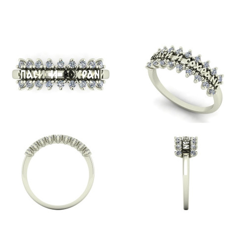 Золотое охранное кольцо с бриллиантами 2628872