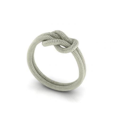 Золотое женское кольцо в форме узелка 719408