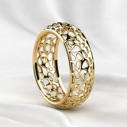 Полукруглые золотые обручальные кольца 2310491