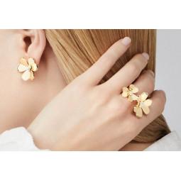 Золотой комплект с бриллиантами в стиле Van Cleef & Arpels 241254