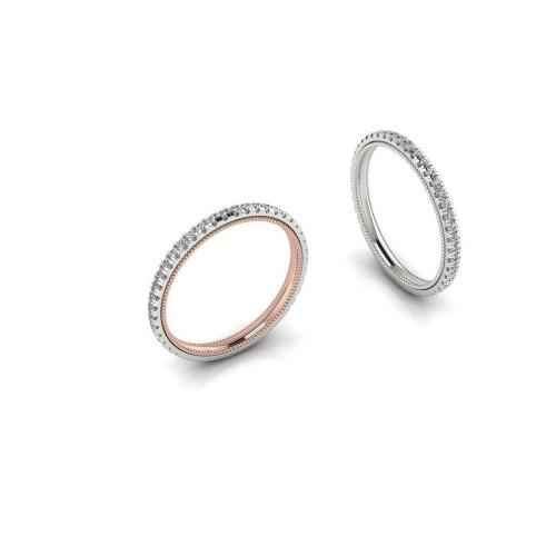 Женское золотое кольцо с дорожкой бриллиантов 2322485