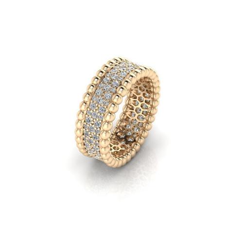 Золотое кольцо с бриллиантами в стиле Van Cleef & Arpels Perlee 2055814