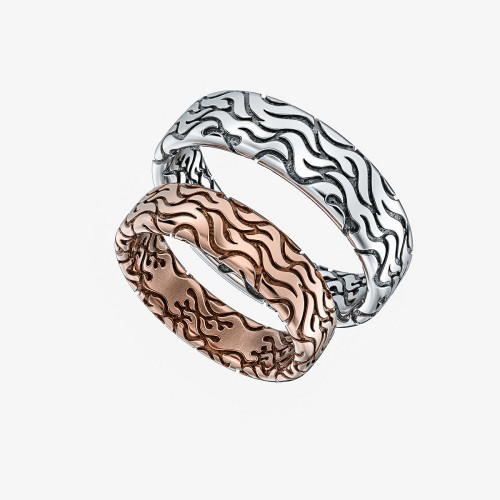 Золотые свадебные кольца с узором 2546403