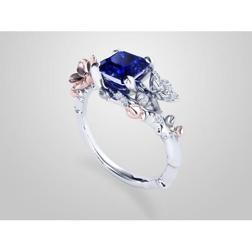 Авторское золотое помолвочное кольцо 777412
